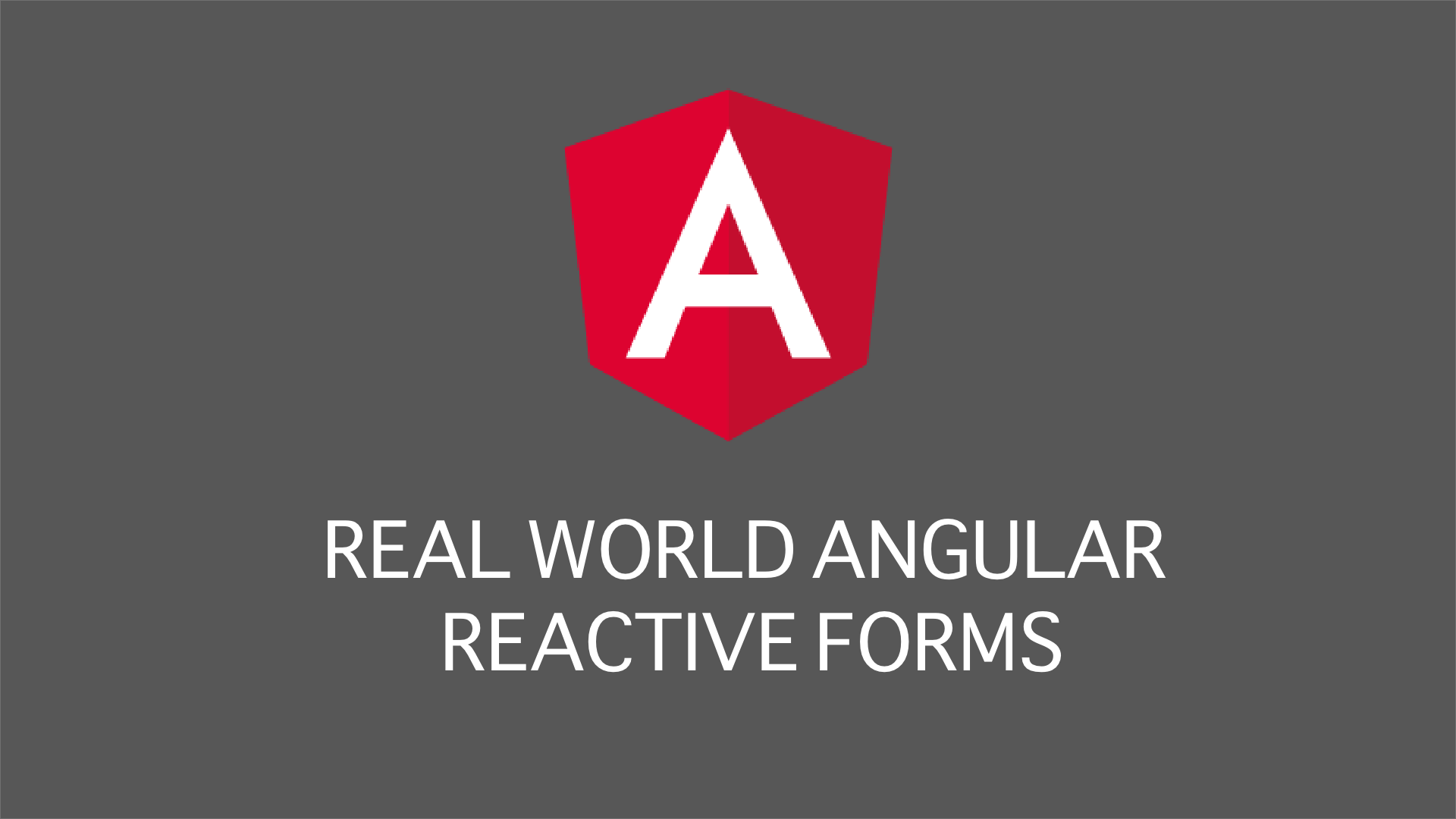 Real world example for angular reactive forms